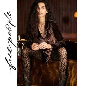 NWT Free People On The Prowl Print Tights